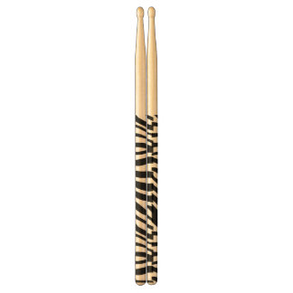 Zebra Print Black And White Stripes Pattern Drumsticks