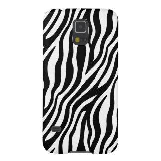 Zebra Print Black And White Stripes Pattern Galaxy S5 Cases