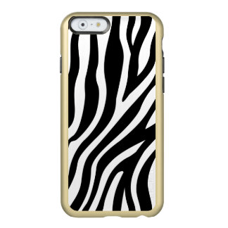 Zebra Print Black And White Stripes Pattern Incipio Feather® Shine iPhone 6 Case