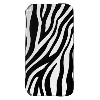 Zebra Print Black And White Stripes Pattern Incipio Watson™ iPhone 6 Wallet Case