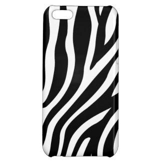 Zebra Print Black And White Stripes Pattern iPhone 5C Covers