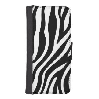 Zebra Print Black And White Stripes Pattern iPhone SE/5/5s Wallet Case