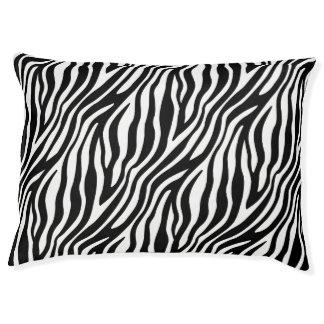 Zebra Print Black And White Stripes Pattern Large Dog Bed