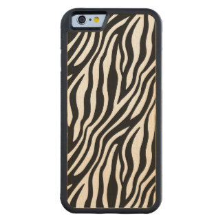 Zebra Print Black And White Stripes Pattern Maple iPhone 6 Bumper