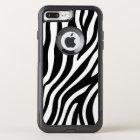 Zebra Print Black And White Stripes Pattern OtterBox Commuter iPhone 8 Plus/7 Plus Case