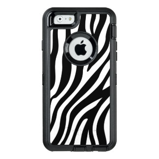 Zebra Print Black And White Stripes Pattern OtterBox Defender iPhone Case
