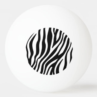 Zebra Print Black And White Stripes Pattern Ping Pong Ball