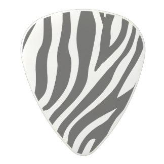 Zebra Print Black And White Stripes Pattern Polycarbonate Guitar Pick