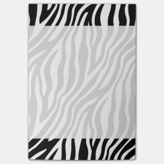 Zebra Print Black And White Stripes Pattern Post-it Notes