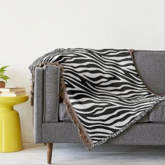 Zebra Print Black And White Stripes Pattern Throw
