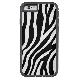 Zebra Print Black And White Stripes Pattern Tough Xtreme iPhone 6 Case