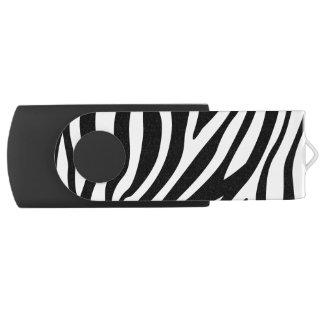 Zebra Print Black And White Stripes Pattern USB Flash Drive