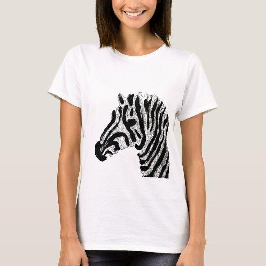 Zebra Print Black and White Stripes T-Shirt