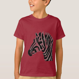 Zebra Print Black and White Stripes T-Shirt