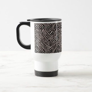 Zebra Print Black & White Pattern Cool Animal Chic Travel Mug