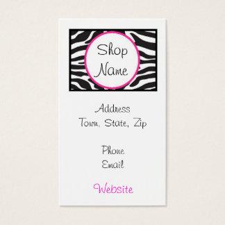 Zebra Print Business Card