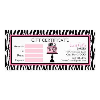 Zebra Print Cake Bakery Gift Certificate