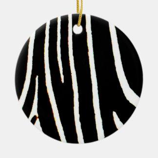 Zebra Print Ceramic Ornament