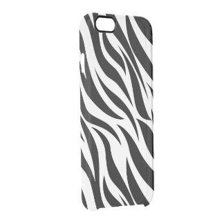 Zebra Print Clear iPhone 6/6S Case