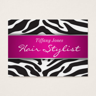 Zebra Print Cosmetology Appointment Card