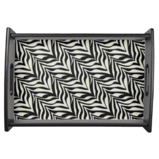 Zebra Print Custom Serving Tray