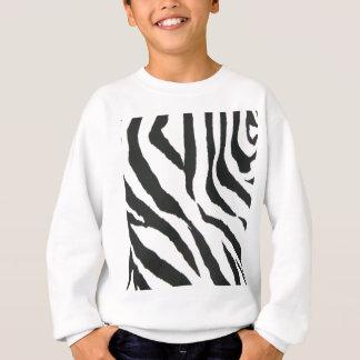 zebra print design sweatshirt