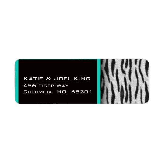 Zebra print designer labels
