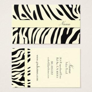 Zebra print /DIY background color Business Card