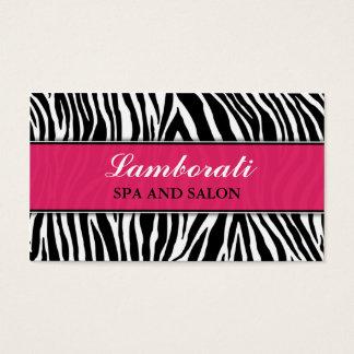 Zebra Print Elegant Modern Fashion Classy Business Card