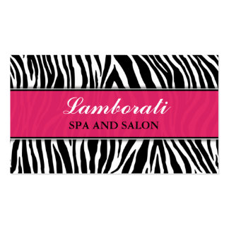 Zebra Print Elegant Modern Fashion Classy Pack Of Standard Business Cards