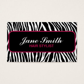 Zebra Print Elegant Stylish Modern Professional Business Card