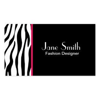Zebra Print Fashion Designer Hair Stylist Salon Business Card