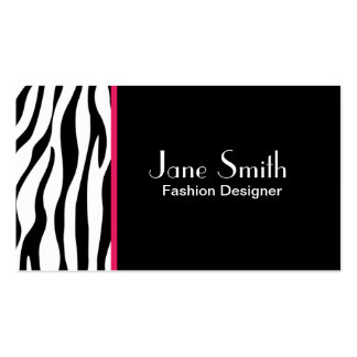 Zebra Print Fashion Designer Hair Stylist Salon Pack Of Standard Business Cards