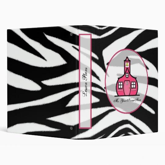 Zebra print Fashion Teacher Binder