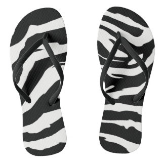Zebra Print Flip Flops for Women