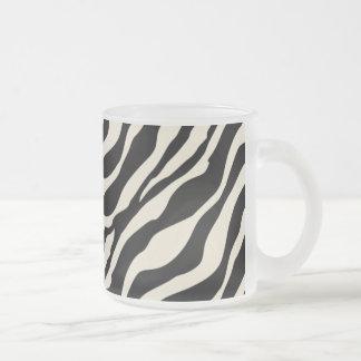 Zebra Print Frosted Glass Mug