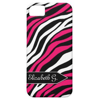 Zebra Print Fuchsia Mix iPhone 5 Case
