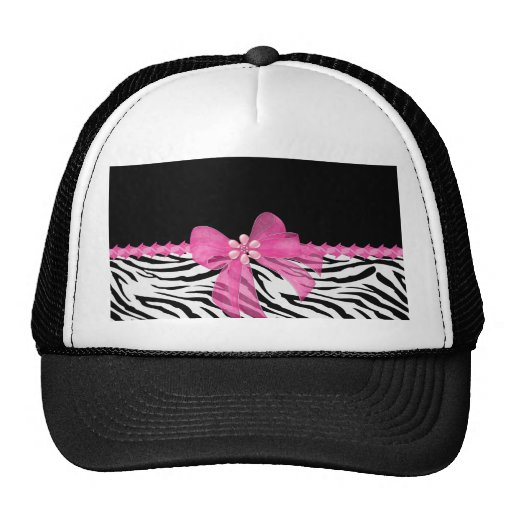 Zebra Print Hats