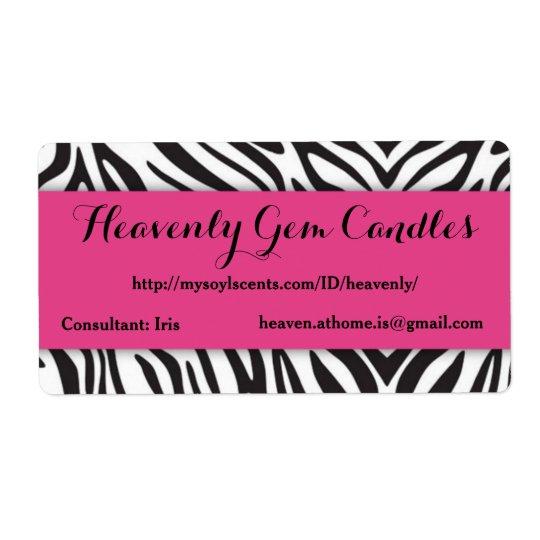 Zebra Print & Hot Pink Business Label Shipping Label