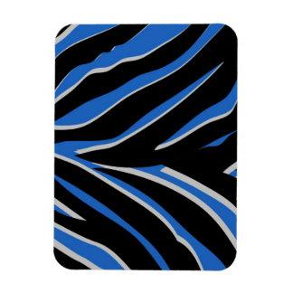 Zebra Print in Blue Flexible Magnets