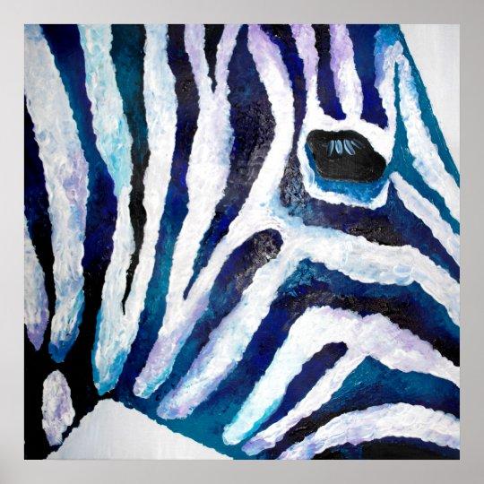 Zebra Print in Purple and Teal (K.Turnbull Art)