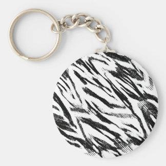 Zebra Print Inspired Keychain