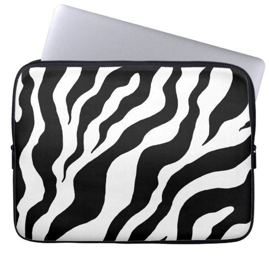 Zebra Print Laptop Sleeve