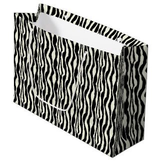 Zebra Print Lg Gift Bag