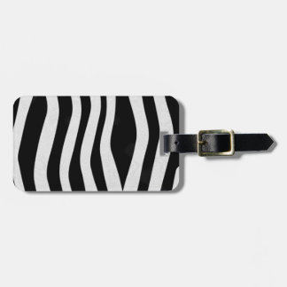 Zebra Print Luggage Tag