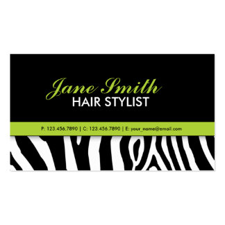 Zebra Print Modern Elegant Green Stylish Pack Of Standard Business Cards