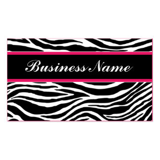 Zebra Print Modern Elegant Stylish Classy Pack Of Standard Business Cards