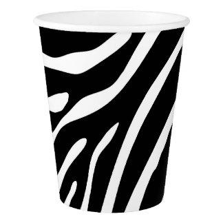 Zebra Print Paper Cups