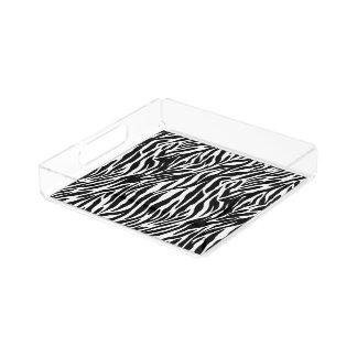 Zebra print perfume tray