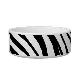 Zebra Print Personalized Cat Bowl